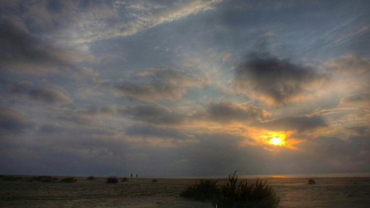 Sol enterbolit al Delta de l'Ebre