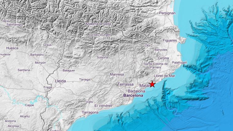 El terratrèmol ha tingut lloc just davant de la costa del Maresme