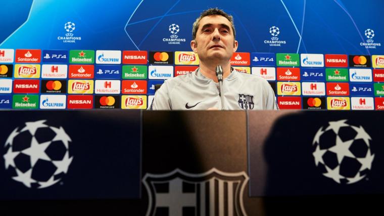 Ernesto Valverde, durant la roda de premsa prèvia al Barça-United.