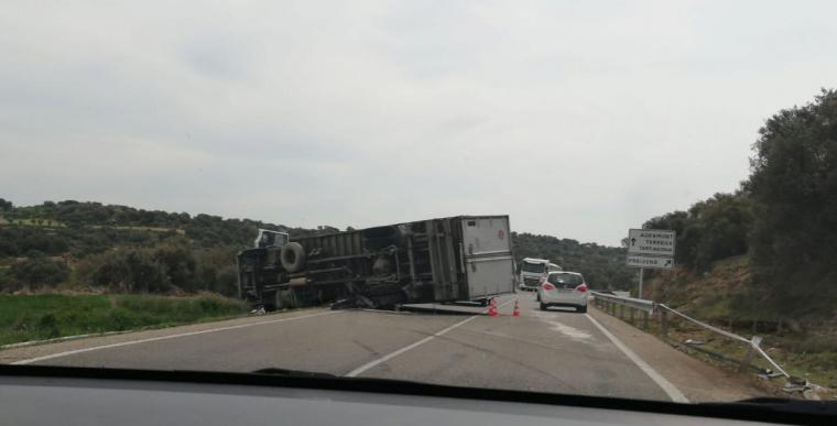 Imatge de l'accident a la C-14