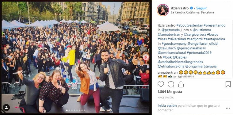 L'actriu Itziar Castro a la Petonada de Barcelona 2019