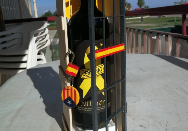 L'ampolla del vi Allibera'm subhastada a Brussel·les