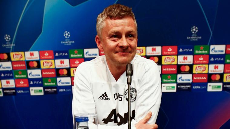 Ole Gunnar Solskjaer, en la roda de premsa prèvia a la visita al Camp Nou.