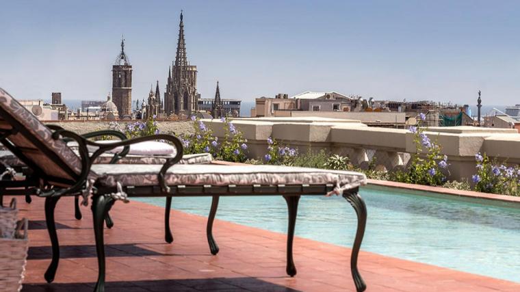 Piscina dels Jardins Diana de l'Hotel Palace de Barcelona