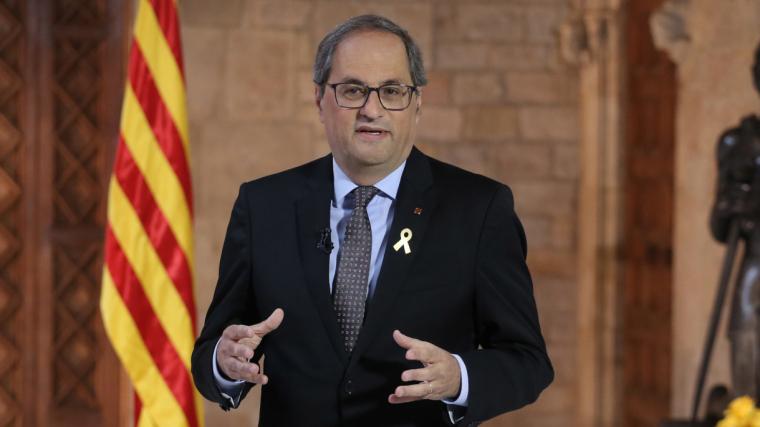 Quim Torra al Palau de la Generalitat