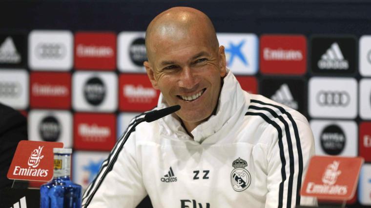 Zinedine Zidane, durant la roda de premsa prèvia al Leganés-Madrid.