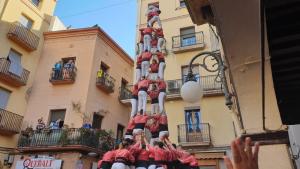 4de9f carregat de la Colla Vella dels Xiquets de Valls a la diada de Sant Isidre