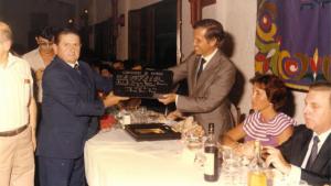 A mà esquerra, l'exalcalde de Vimbodí, Ramon Solé Palau, que va morir ahir
