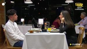 Abraham y Anna durante su cena