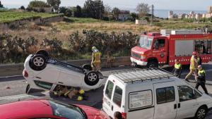 Accident a la carretera de la Mata a Mataró