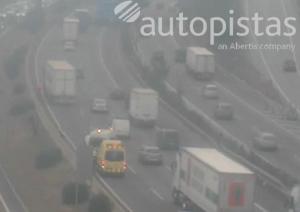 Accident de trànsit a l'AP-7 entre Cerdanyola i Sant Cugat