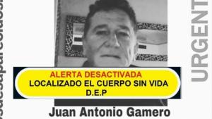 Alerta desactivada de la búsqueda de Juan Antonio Gamero