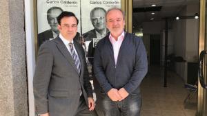 Àlvarez i Calderón han presentat el programa de Centrats a la seu del partit, al carrer Gasòmetre