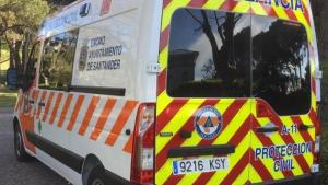 Ambulancia de Protección Civil de Santander