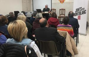 Aquesta trobada amb la gent gran, va anar a càrrec de Miquel Nadal, candidat al Congrés per Barcelona