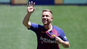 Arthur Melo amb la samarreta del Barça