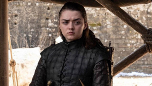 Arya en el último capítulo de Juego de Tronos.