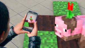 Bloques de Minecraft con realidad aumentada.