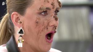 Carlota Corredera después de recibir el tartazo