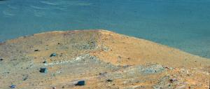 Composició de dues imatges del terra àrid de Mart captades per l'Opportunity