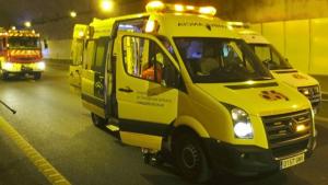 Cuatro heridos en un accidente de tráfico en la carretera A-44A en Granada
