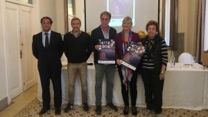 David Ciscar, Javier Escribano, Salvador Minguella, Elvira Ferrando i Ana Vilallonga a la presentació de Nit Oberta