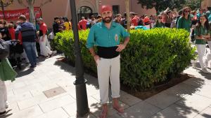 David Lobo és el cap de colla dels Castellers de Sant Pere i Sant Pau