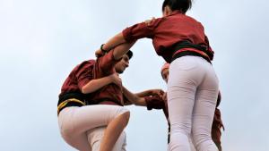 Diada Castellera a Riudoms amb Xiquets de Reus i Xiquets de Cambrils
