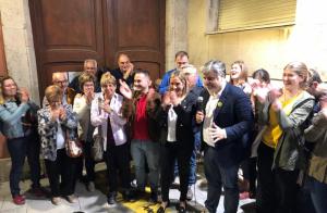 Durant la nit electoral a la seu de Junts per Valls s'han viscut moments d'eufòria