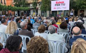 Durant una hora, unes 200 persones van poder escoltar la proposta de futur que Jordi Cartanyà va anar desgranant