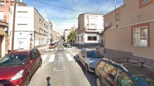 El carrer Marconi, amb el carrer de Doctor Salvà