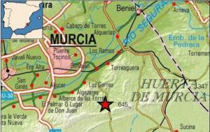 El epicentro del movimiento sísmico está situado al sur de la ciudad de Murcia, a unos 7 km de profundidad