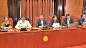 El president d'ERC al Parlament, Sergi Sabrià, ha confirmat que el seu partit votarà 'no' a que Iceta sigui elegit com a senador