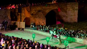 El torneig «Justa i Honor» va ser una de les principals novetats de la Setmana Medieval d'enguany