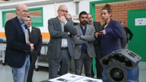 Els consellers d'Educació i Treball, Bargalló i El Homrani, durant la visita d'aquest dimecres a Tarragona