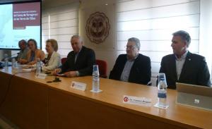 Els presidents de les cambres de comerç de la regió de Tarragona, a la Cambra de Valls