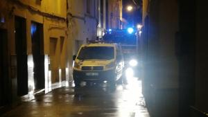 Els serveis d'emergència, al carrer de la Cristina Alta