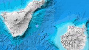 Epicentro del terremoto de 3,1 registrado a las 8:45h en la costa este de Tenerife