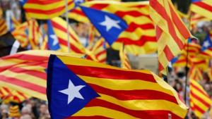 Estelades celebrant la independència de Catalunya