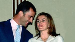 Felipe y Letizia en una de sus primeras apariciones tras anunciarse su compromiso