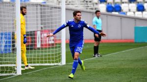 Fran Carbia després de marcar amb el Dinamo Tbilisi