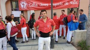 Francesc Ramon afronta el tercer any al capdavant de la tècnica de la Colla Joves Xiquets de Valls