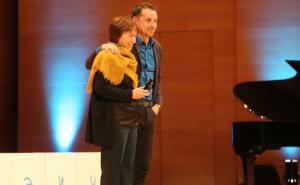 Gemma Carbó, directora del museu, va recollir el Premi Bonart