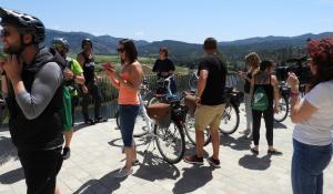 Grup durant la visita a Ascó