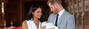 Harry y Meghan muy pendientes de su bebé en el posado