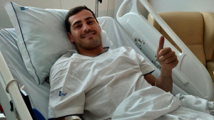 Iker Casillas ha publicat una imatge des de l'hospital, després d'ingressar per un infart