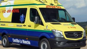 Imagen de archivo de una ambulancia de Castilla-La Mancha