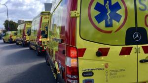 Imagen de archivo de unas ambulancias del SAMU 061 Islas Baleares