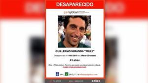 Imagen de Guillermo, el hombre desaparecido en Granada