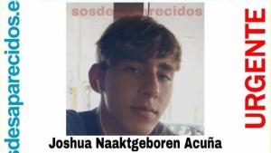 Imagen de Joshua, que desapareció el pasado sábado